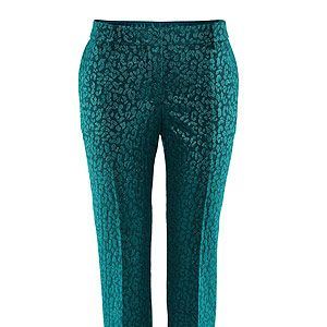 """<p>This season, it's ALL about the cocktail trouser, in a jewel bright colour. This glittery pair from H&M are an absolute style steal - race ya to the checkout!</p><p>Embroidered trousers, £10 (was £24.99), <a href=""""http://www.hm.com/gb/product/04088?article=04088-B#shopOrigin=SA"""" target=""""_blank"""">H&M </a></p>"""