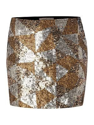 "<p>Shine like a star in this 'mazing metallic mini, available in the House of Fraser sale which starts on Boxing Day. Pair with a marl grey sweater and studded boots for laid back luxe.</p> <p>Label Lab metallic mini skirt, £59.40 (was £99), <a href=""http://www.houseoffraser.co.uk/"" target=""_blank"">House of Fraser </a></p>"