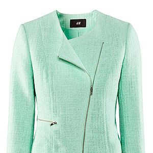 """<p>Spring hasn't sprung just yet, but we find ourselves reaching for pretty new pastel shades, nonetheless. Work this beautiful tweed biker with narrow printed trousers and chic ballet flats for a 60s inspired look (don't forget the huge hair, a la Lana Del Rey).<br /><br />Tweed jacket, £24.99, <a href=""""http://www.hm.com/gb/product/06758?article=06758-E#campaign=P03_Ladies_Online_Seasonstart%20"""" target=""""_blank"""">H&M</a><br /><br /></p>"""