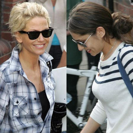 A dressed down Cheryl Cole and Sarah Harding were papped as they left their hotel in Leeds to attend a rehearsal. And of course, they still looked gorgeous, even hidden behind their dark shades...  <br />
