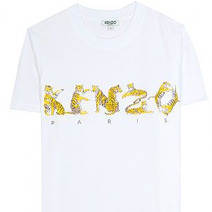 """<p>Graphic logo tees are a forever essential and with the debut of Carol Lim's and Humberto Leon's creative reign at Kenzo, why not celebrate with this bright white and tonal yellow logo tee?</p><p><br />Kenzo logo T-shirt, £72, <a href=""""http://www.mytheresa.com/en-gb/logo-t-shirt-190452.html%20"""" target=""""_blank"""">My Theresa</a></p>"""