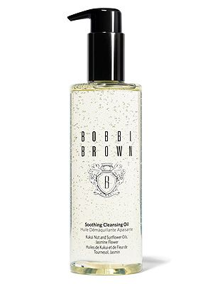 "<p>Fact: oil dissolves impurities in your skin way better than water. We love Bobbi Brown's Soothing Cleansing Oil with jasmine flower extract, kukui nut, organic sunflower and jojoba oils that leave our skin feeling silky smooth.</p> <p>Soothing Cleansing Oil, £29, <a href=""http://www.bobbibrown.co.uk/product/2558/22552/Skincare/CleanseTone/Cleansers/Soothing-Cleansing-Oil/New-Formula/index.tmpl"" target=""_blank"">Bobbi Brown</a></p>"