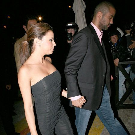 Eva Longoria, looking glam in an all in one sexy shoulderless number, was inseparable from hubby basketball star Tony Parker at the Cannes Film Festival...  <br />