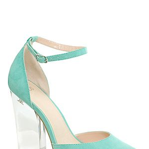 <p>We're saying a little fashion prayer that these pretty perspex heels will be ours come pay day! From the mint green hue, through to the oh-so now see-through heels, we want these little gems REAL BAD.</p>