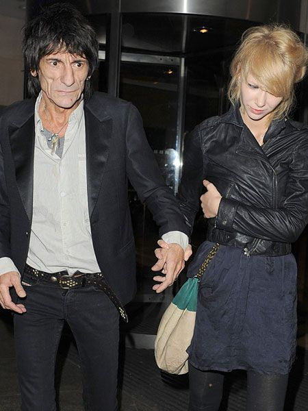 Ekaterina Ivanova had to help a visibly worse for wear Ronnie Wood to their car after the 61-year-old Rolling Stone and his 20-year-old girlfriend emerged from Whiskey Mist in London at 1.40am...  <br />