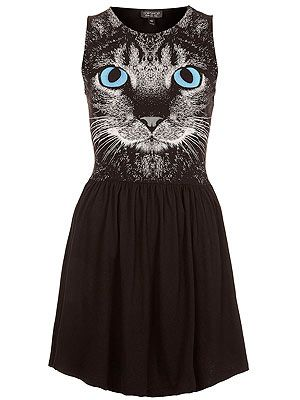 "<p>A dress. With a cat's face on it. What's not to love? The ideal update to your plain ol' LBD this season. Meow!</p> <p>Cat face skater dress, £28, <a href=""http://www.topshop.com/webapp/wcs/stores/servlet/ProductDisplay?beginIndex=1&viewAllFlag=&catalogId=33057&storeId=12556&productId=8937328&langId=-1&sort_field=Relevance&categoryId=208523&parent_categoryId=203984&pageSize=200%20"" target=""_blank"">Topshop</a></p>"