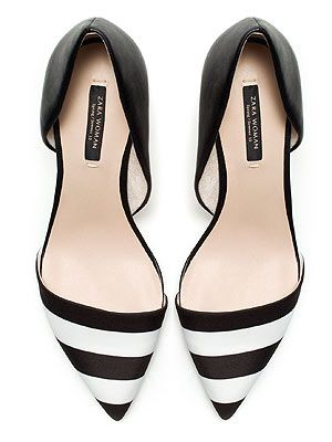 """<p>We've a feeling these pretty black and white heels are going to make it into our wardrobe in no time. #love #monochrome #perfect</p> <p>Heels, £39.99, <a href=""""http://www.zara.com/webapp/wcs/stores/servlet/product/uk/en/zara-neu-S2013/358009/1050673/BLACK%20AND%20WHITE%20COMBINATION%20HEELS"""" target=""""_blank"""">Zara</a></p>"""