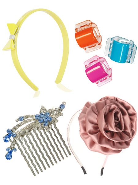 Play slide and tweak with the season's hottest hair accessories...<br />