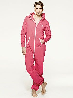 """<p>Here at Cosmo we're firm believers that there's nothing better than a onesie to chill out in at home. What better gift for Valentine's Day, eh?</p> <p>Dark pink onesie, £119, <a href=""""http://www.onepiece.co.uk/mens/jumpsuits/originals/onepiece-original-dark-pink"""" target=""""_blank"""">OnePiece</a></p>"""