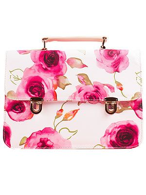 """<p>We can't wait to add this arm candy to our spring wardrobe. Über-girly meets preppy chic in this floral satchel from Daisystreet.co.uk.</p> <p>Satchel, £17.99, <a href=""""http://www.daisystreet.co.uk/nora-floral-leather-satchel-in-white"""" target=""""_blank"""">Daisystreet.co.uk</a></p>"""