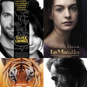 <p>The Oscar nominees for the 2013 Academy Awards have been revealed and we're already on tenterhooks to see those red carpet dresses, check out those speeches and, best of all, find out which films have been named THE best. But which films do we here at Cosmo HQ want to win big at the Oscars?</p><p>Here's our pick of the top 10 Oscar nominees for 2013...</p>