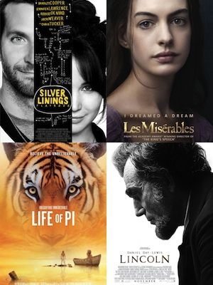 <p>The Oscar nominees for the 2013 Academy Awards have been revealed and we're already on tenterhooks to see those red carpet dresses, check out those speeches and, best of all, find out which films have been named THE best. But which films do we here at Cosmo HQ want to win big at the Oscars?</p> <p>Here's our pick of the top 10 Oscar nominees for 2013...</p>