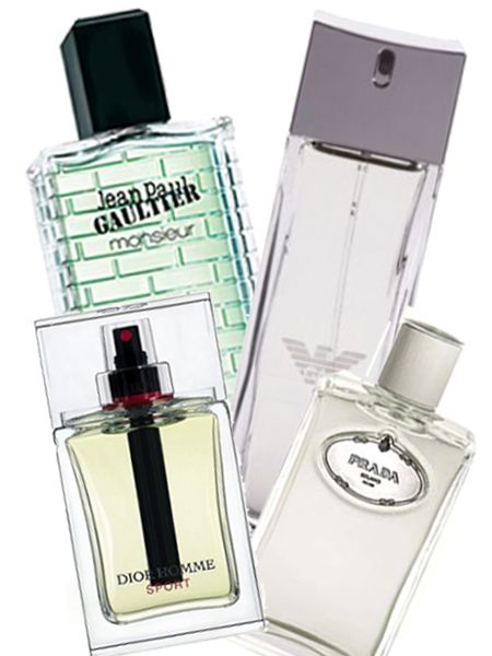 Jean Paul Gaultier Monsieur Eau Du Matin, £29.50 for 100ml<br /><br />Dior Homme Sport, £39 for 50ml<br /><br />Prada Infusion D'Homme, £35 for 50ml<br /><br />Emporio Armani Diamonds For Men, £29.50 for 30ml<br /><br />