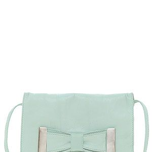 "<p>Leather bow across-body bag, £17.50, <a title=""ASOS"" href=""http://www.asos.com/ASOS/ASOS-Leather-Bow-Across-Body-Bag/Prod/pgeproduct.aspx?iid=2624064&SearchQuery=green%20bag&Rf-700=1000&sh=0&pge=0&pgesize=-1&sort=-1&clr=Mint%20"" target=""_blank"">ASOS</a></p>"