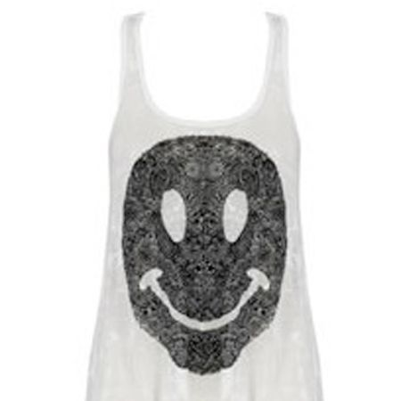 "Lauren Moshi vest, £69, <a target=""_blank"" href=""http://www.bunnyhug.co.uk/fashionshop/gbu0-prodshow/Lauren_Moshi_White_Burnout_Happy_Face_Swing_Tank.html"">Bunny Hug</a> - Lauren Conrad is a fan, and if Lauren's got one we want one too<br />"