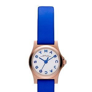"""<p>We all like a bit of wrist candy and this funky little number by Marc by Marc Jacobs will surely brighten up your working day. The quirky blue strap and graphics will go well with almost any outfit.</p><p>Marc by Marc Jacobs watch, £135, <a href=""""http://www.selfridges.com/en/Womenswear/Categories/Shop-Accessories/Watches/Designer/MBM1238-rose-gold-and-leather-watch_759-10001-MBM1238/?previewAttribute=White"""" target=""""_blank"""">Selfridges</a></p>"""