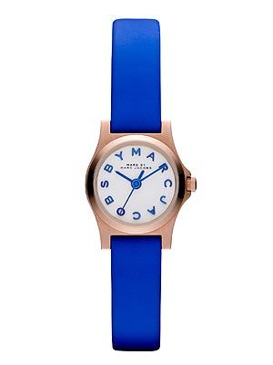 "<p>We all like a bit of wrist candy and this funky little number by Marc by Marc Jacobs will surely brighten up your working day. The quirky blue strap and graphics will go well with almost any outfit.</p> <p>Marc by Marc Jacobs watch, £135, <a href=""http://www.selfridges.com/en/Womenswear/Categories/Shop-Accessories/Watches/Designer/MBM1238-rose-gold-and-leather-watch_759-10001-MBM1238/?previewAttribute=White"" target=""_blank"">Selfridges</a></p>"