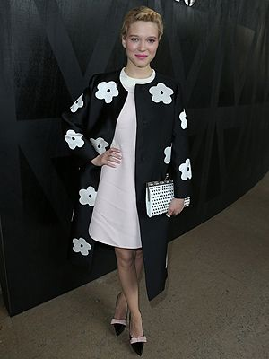 Even though we couldn't be front row at the shoes during Paris fashion week, it didn't stop us drooling over the celeb-fest attendees in their finery.  We rather like Lea Seydoux's chic monochrome look at the Miu Miu show dressed top-to-toe in Prada.  Just look at those pointed bow courts!  So to satiate our shoe envy here are 15 stunning spring shoes to put in your pay-day check list.