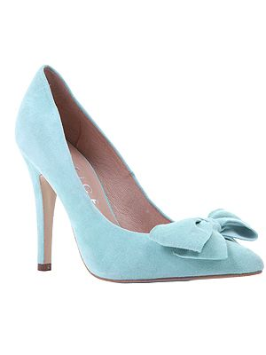 """<p>If you can't afford the Prada version, why not try this pretty bow court shoe instead? This pastel alternative in peppermint suede would look great with this season's many shades of pale denim jeans on offer.</p> <p>Ophelia bow court shoe, £62, <a href=""""http://www.office.co.uk/womens/office/ophelia_bow_court/37/13191/37327/1?fs=13191"""" target=""""_blank"""">Office</a> </p>"""