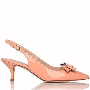 """<p>On the delicate bow-front-shoe tip, we found these oh so pretty patent kitten heel slingbacks that we think Kate Middy would definitely approve of. A perfectly low heel for the working week, they look super-chic and stylish in a neutral tone that will compliment all the bright prints and floral attire on offer this spring.</p><p>Slingback shoes, £185, <a href=""""http://www.lkbennett.com/shoes/courts/CCPIPA673PATENT"""" target=""""_blank"""">LK Bennett </a></p>"""