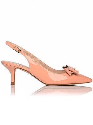 """<p>On the delicate bow-front-shoe tip, we found these oh so pretty patent kitten heel slingbacks that we think Kate Middy would definitely approve of. A perfectly low heel for the working week, they look super-chic and stylish in a neutral tone that will compliment all the bright prints and floral attire on offer this spring.</p> <p>Slingback shoes, £185, <a href=""""http://www.lkbennett.com/shoes/courts/CCPIPA673PATENT"""" target=""""_blank"""">LK Bennett </a></p>"""
