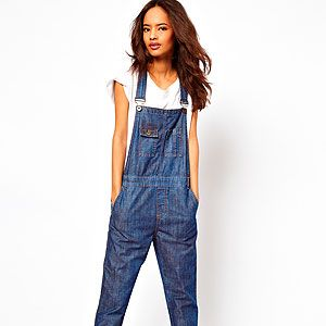 """<p>For a true take on the denim dungarees trend, step into this dark wash pair from ASOS. We'd wear them exactly as styled here - with a simple tee and rolled-up hems 'n' heels for a super-cool casual look to give Alexa Chung a run for her money.</p><p>Dark wash denim dungarees, £45, <a title=""""ASOS"""" href=""""http://www.asos.com/ASOS/ASOS-Dark-Wash-Denim-Dungaree/Prod/pgeproduct.aspx?iid=2769578&SearchQuery=dungarees&sh=0&pge=0&pgesize=-1&sort=-1&clr=Washedindigo"""" target=""""_blank"""">ASOS</a></p>"""