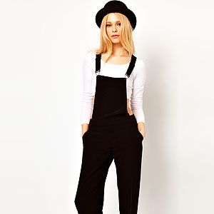 """<p>Dungarees don't always mean denim, y'know. This smart black tailored pair from River Island would even work for the office - just add a monochrome shirt and heels to be a fashion BOSS.</p><p>Black smart dungarees, £40, <a title=""""River Island"""" href=""""http://www.riverisland.com/women/playsuits--jumpsuits/jumpsuits/Black-smart-dungarees--633906%20"""" target=""""_blank"""">River Island</a></p>"""