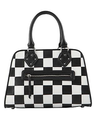 "<p>Ok, so it's not the celebs' fave Louis Vuitton pattern but it's close enough (and more purse-friendly). Team with a checked dress for the total monochrome look. Go on, we dare you.</p> <p>Bag, £60, <a href=""http://www.aldoshoes.com/uk/handbags/satchels-handheld-bags/product/90710806-galambos/79"" target=""_blank"">Aldo</a></p>"
