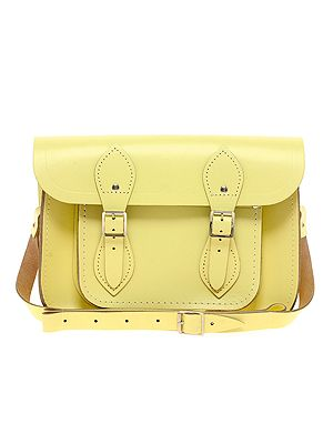 "<p>We're updating our trusted satchel for spring and adding this pretty-enough-to-eat pastel yellow one from the Cambridge Satchel Company to our ever-expanding collection. Channel Alexa and pair with a loose blouse, shorts and brogues.</p> <p>Satchel, £105, <a href=""http://www.asos.com/Cambridge-Satchel-Company/Cambridge-Satchel-Company-11-Leather-Lemon-Satchel/Prod/pgeproduct.aspx?iid=2689898&cid=6992&Rf900=1428&sh=0&pge=0&pgesize=200&sort=-1&clr=Lemon"" target=""_blank"">Asos</a></p>"