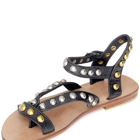 """<p>Stop clock watching, it's Fashion Friday and this week it's Fashion Editor, Sairey Stemp's chance to showcase her style must-haves...<br /><br />Left:Vintage black leather gold stud sandals, £68.60 (was £98), <a target=""""_blank"""" href=""""http://www.bunnyhug.co.uk/fashionshop/gbu0-prodshow/Mogil_Black_Leather_Charm_Flat_Sandal.html"""">Bunnyhug</a>  - We all love a gladiator but check these lovelies out. Mogil make really fashion forward sandals. The metallic rounded studs make them look so much more unusual, and as a bonus they're reduced by a third.<br /><br /><br /></p>"""