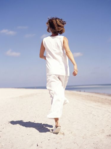 <p>Simple Psychologist, Dr Chris Bundy, says go for a brisk walk for ten minutes a day to improve your mood and lift your spirits. 'So many of us spend so much time chained to our desks but it really is vital to get out at lunchtime to clear your head and put your worries into perspective.'</p>