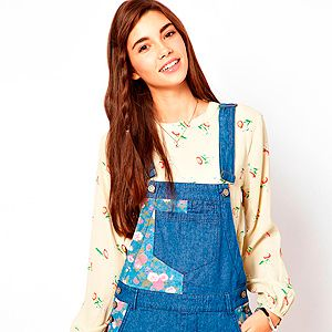 """<p>Who knew dungarees would be back in fashion, and that we'd want to buy them? Add a touch of 90s to your festival wardrobe with this patchwork dungaree dress from Asos.</p><p>Dungaree dress, £40,  <a href=""""http://www.asos.com/ASOS/ASOS-Denim-Dungaree-Dress-with-Floral-Blocking/Prod/pgeproduct.aspx?iid=2781080&SearchQuery=dungarees&sh=0&pge=0&pgesize=20&sort=-1&clr=Multi"""" target=""""_blank"""">Asos</a></p>"""