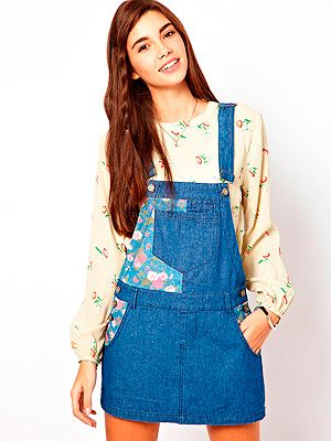 "<p>Who knew dungarees would be back in fashion, and that we'd want to buy them? Add a touch of 90s to your festival wardrobe with this patchwork dungaree dress from Asos.</p> <p>Dungaree dress, £40,  <a href=""http://www.asos.com/ASOS/ASOS-Denim-Dungaree-Dress-with-Floral-Blocking/Prod/pgeproduct.aspx?iid=2781080&SearchQuery=dungarees&sh=0&pge=0&pgesize=20&sort=-1&clr=Multi"" target=""_blank"">Asos</a></p>"