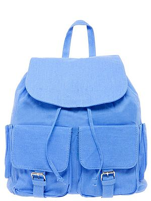 "<p>Rucksacks are making a comeback. Show off your laidback side with this blue rucksack from Boohoo.</p> <p>Rucksack, £25,  <a href=""http://www.boohoo.com/restofworld/accessories/bags/icat/bags/new-in-accessories/simone-bright-rucksack/invt/azz53075"" target=""_blank"">Boohoo.com</a></p>"