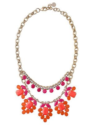 """<p>Oh orange-you nice! We are SO ready for spring and we can't think of a better to start off the new season than with this gorgeous stella & dot necklace and its coral, orange and pink stones.</p> <p>Necklace, £120, <a href=""""http://shop.stelladot.co.uk/style/b2c_en_gb/featured-shops/2013-trend-report-1/spring-awakening-necklace.html"""" target=""""_blank"""">Stella & dot</a></p>"""