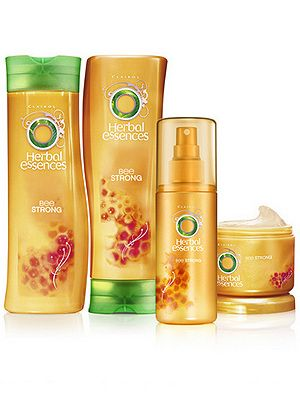 """<p>Strong hair means healthy hair which in turn looks HOT. We always love Herbal Essences and the brand's new Bee Strong range is no exception. Use this and imagine you're bathing in honey and apricots. Nourishing for the soul as well as the hair!</p> <p>£1.89, <a title=""""http://www.tesco.com/groceries/Product/Details/?id=276929216"""" href=""""http://www.tesco.com/groceries/Product/Details/?id=276929216"""" target=""""_blank"""">tesco.com</a></p>"""