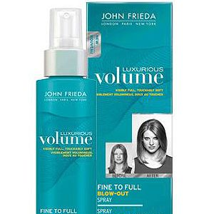"""<p>John Frieda does results-driven styling products with aplomb. If you have fine but want fat hair, get this into your routine. Spritz it on after washing and blast your barnet with heat to double its size. Simple.<br /> <br />£6.99, <a title=""""http://www.boots.com/en/John-Frieda-Luxurious-Volume-Blow-Out-Spray-125ml_1307215/"""" href=""""http://www.boots.com/en/John-Frieda-Luxurious-Volume-Blow-Out-Spray-125ml_1307215/"""" target=""""_blank"""">boots.com</a></p>"""