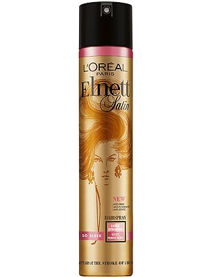 """<p>Elnett hairspray is legendary and frequently favoured by super stylists and celebs alike. The new So Sleek variant is your perfect product for creating this season's low, lustrous ponytails. It has great hold yet disappears at the stroke of a brush – amazing.<br /> <br />£6.63, <a title=""""http://www.tesco.com/groceries/Product/Details/?id=276825137"""" href=""""http://www.tesco.com/groceries/Product/Details/?id=276825137"""" target=""""_blank"""">tesco.com</a></p>"""
