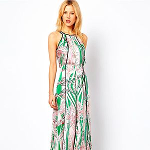 """<p>You can't have summer without maxi dresses, don't you think? We love the structured shape and gorgeous print of this Mango dress. Layer it up with a denim jacket for those cold evenings.</p><p>Mango dress, £89.99, <a href=""""http://www.asos.com/Mango/Mango-Printed-Maxi-Dress/Prod/pgeproduct.aspx?iid=2931734&cid=2623&sh=0&pge=0&pgesize=200&sort=-1&clr=Cream"""" target=""""_blank"""">Asos</a></p>"""