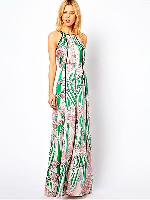 """<p>You can't have summer without maxi dresses, don't you think? We love the structured shape and gorgeous print of this Mango dress. Layer it up with a denim jacket for those cold evenings.</p> <p>Mango dress, £89.99, <a href=""""http://www.asos.com/Mango/Mango-Printed-Maxi-Dress/Prod/pgeproduct.aspx?iid=2931734&cid=2623&sh=0&pge=0&pgesize=200&sort=-1&clr=Cream"""" target=""""_blank"""">Asos</a></p>"""