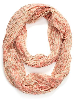 "<p>Who said scarves had to be boring? This Accessorize snood with leopard print and neon coral hues is anything but.</p> <p>Snood, £17, <a href=""http://uk.accessorize.com/view/product/uk_catalog/acc_5,acc_5.1/3871187100"" target=""_blank"">Accessorize</a></p>"