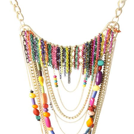 """<p>Add a statement necklace to any outfit to draw eyes to the bust and balance out curvier hips</p><p> </p><p>£28, <a href=""""http://www.asos.com/countryid/1/Asos/Asos-Statement-Multi-Row-Coloured-Metal-Chains-And-Bead-Necklace/Prod/pgeproduct.aspx?iid=1074232&MID=35718&affid=2134&siteID=0RpXOIXA500-XQEHHGWKEcBaxf7RaRIXkQ"""" target=""""_blank"""">www.asos.com</a></p>"""