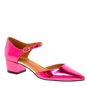 """<p>These hot pink metallic Mary Janes look so comfie and pretty you'll take them with you everywhere. With cropped trousers or dresses, they're bound to go with everything.</p><p>Heels, £35, <a href=""""http://www.asos.com/ASOS/ASOS-SUPPOSE-Mary-Jane-Heels/Prod/pgeproduct.aspx?iid=2776147&cid=17240&sh=0&pge=0&pgesize=20&sort=-1&clr=Pink&WT.z_feature=Occasion%20Wear&WT.z_subfeature=prom%7Cmain"""" target=""""_blank"""">ASOS</a></p>"""