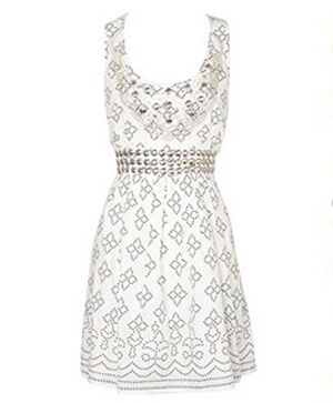 "Great for day and even better for night dressed up with heels or gorgeous gladiators, it's a summer essential.<br /><br />£55, <a target=""_blank"" href=""http://www.oasis-stores.com/fcp/product/Oasis//Studded-dress/3770009102?colour=white"">www.oasis-stores.com</a><br />"