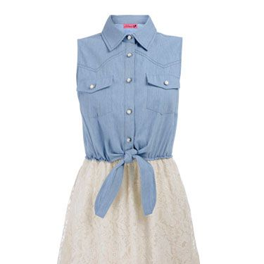 """<br />Part utilitarian chic, part garden party, here's a cool summer dress for every occasion. Dress it up with wedges, down with pumps—the choice is yours. We love it! <br /></p><p><em><a href=""""http://www.bankfashion.co.uk/product/ribbon-chambray-lace-2-in-1-dress/064621/?cm_mmc=pr-_-communications-_-pr-_-bankcosmo"""" target=""""_blank"""">Ribbon chambray lace 2 in 1 dress from BANK</a> - £25 Product code: 064621 </em></p>"""
