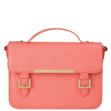 """<br />Who cares if you have nothing more than a wallet to carry with you—this bag is a style essential. Of course, if you're like us and also want to carry lip gloss, phone, ipad, magazine, sunnies and snacks then it's pretty useful too. <br /></p><p><em><a href=""""http://www.bankfashion.co.uk/product/bank-satchel-bag/086552/?cm_mmc=pr-_-communications-_-pr-_-bankcosmo"""" target=""""_blank"""">BANK satchel bag</a> - £25 Product code: 086552</em></p>"""