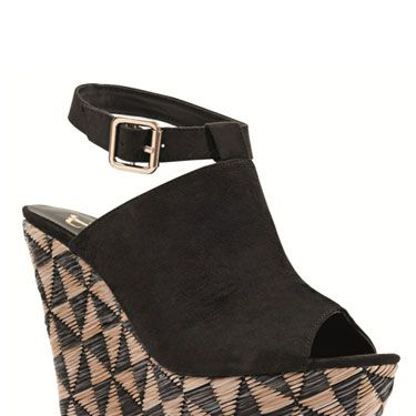 """<br />Reach for new style heights in these fabulous wedges. With their Aztec-inspired geometric design heel and sexy ankle strap, they'll help you walk tall in more ways than one. </p><p><em><a href=""""http://www.bankfashion.co.uk/product/kitsch-couture-anna-aztec-wedges/007841/?cm_mmc=pr-_-communications-_-pr-_-bankcosmo"""" target=""""_blank"""">Kitsch Couture Anna Aztec wedges from BANK</a> - £35 Product code: 007841 </em></p>"""