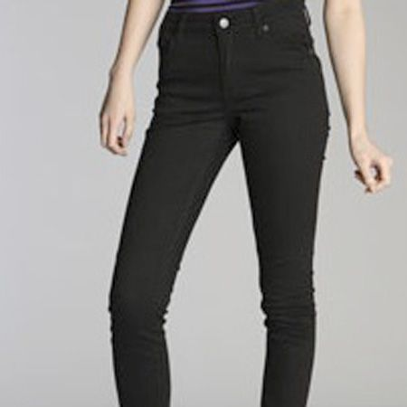 """I love these super-skinny jeans.  They go with everything and the high-waist cut makes them ultra flattering and comfy too.  <br /><br />£45, Cheap Monday at <a target=""""_blank"""" href=""""http://www.urbanoutfitters.co.uk/Cheap-Monday-Very-Stretch-Black-Jean/invt/5122422233922"""">Urban Outfitters</a><br />"""