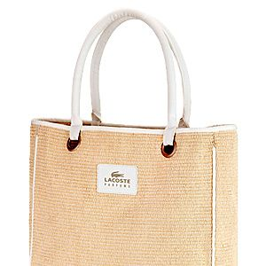 """<p>Buy Lacoste Eau de Lacoste Pour Femme Eau de Parfum 50ml or above and you'll receive this pretty weaved tote bag. This perfume is floral, delicate lasts all day.<br /> <br />Lacoste Eau de Lacoste Pour Femme Eau de Parfum, £45, <a href=""""http://www.boots.com/en/Lacoste-Eau-de-Lacoste-Pour-Femme-Eau-de-Parfum-50ml_1296008/"""" target=""""_blank"""">Boots</a></p>"""