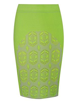 "<p>Dagmar's neon stretch-knit pencil skirt is a little pricey but oh so gorgeous. The neon hue, knee-length and geometric pattern make it bang on trebd. If you're going to invest in one key piece this season, this is it. </p> <p>Dagmar skirt, £260, <a href=""http://www.net-a-porter.com/product/343151"" target=""_blank"">Net-A-Porter</a></p>"